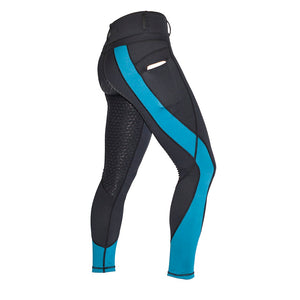 Mane Event Riding Tights - Teal and Black