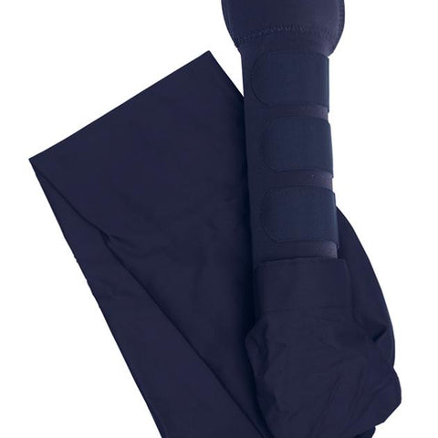 gold easy fit shires long tail bag with padded tail guard bnib navy