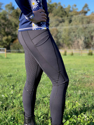 Black Mane Event Riding Tights