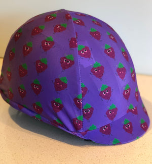 Fly Buster Helmet Cover - Giddy Up Grapes