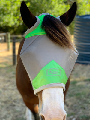 Fly Buster Standard Fly Mask - Lime - Limited Edition