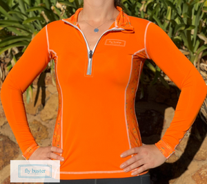 Fly Buster Technical Air Vent Riding Top - Orange Drops
