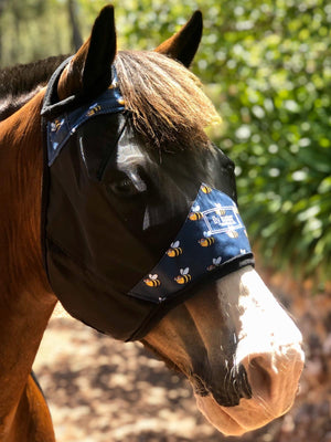 Fly Buster Standard Fly Mask - Sassy Bee