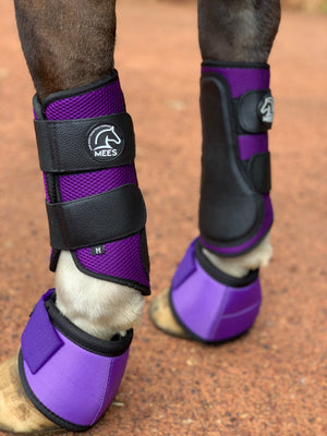 Purple Mesh Ventilated Protection Boots