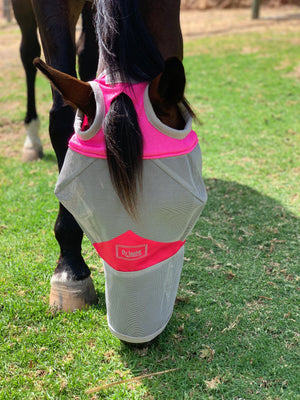 Fly Buster Long Nose Fly Mask - Pink