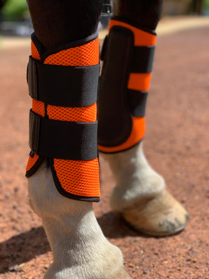 Orange Mesh Ventilated Protection Boots