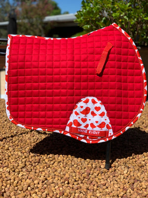 Jump Saddle Pad - Red Robin