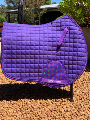 Jump Saddle Pad - Giddy Up Grapes