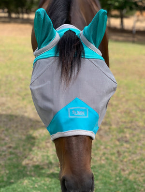 Fly Buster With Ears Fly Mask - Turquoise
