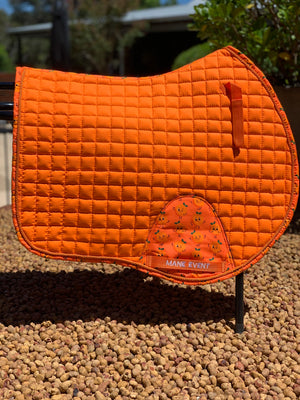 Jump Saddle Pad - Orange Drops