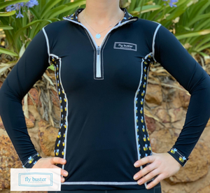 Fly Buster Technical Air Vent Riding Top - Sassy Bee