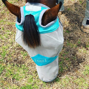 Fly Buster Long Nose Fly Mask - Turquoise