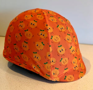 Fly Buster Helmet Cover - Orange Drops