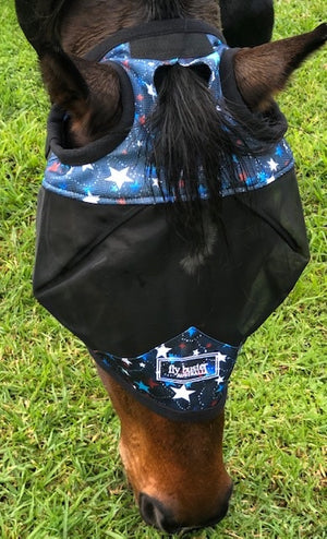 Fly Buster Standard Fly Mask - Starry Nights