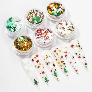 Christmas Mix Sequins Glitter