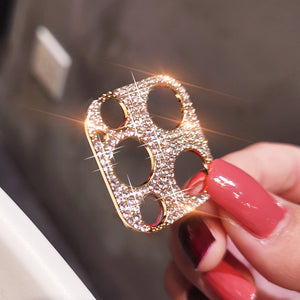Vipomall Bling Diamond Metal Camera Lens Protection for iPhone 12/11 Series(Buy 2 Get10% Off)