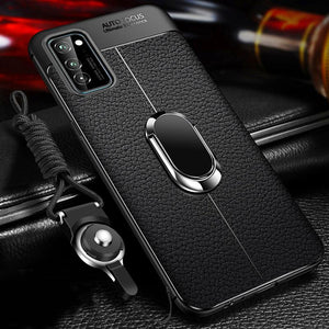 Vipomall Luxury Soft Silicone Leather Case For Samsung Galaxy S20 with Magnet Stand