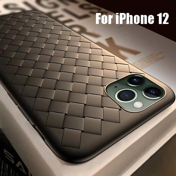Vipomall New Mesh BV Weaving Grid Breathable Case For iPhone 12