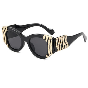 Fashion Metal Decoration Anti-blue Clear Glasses