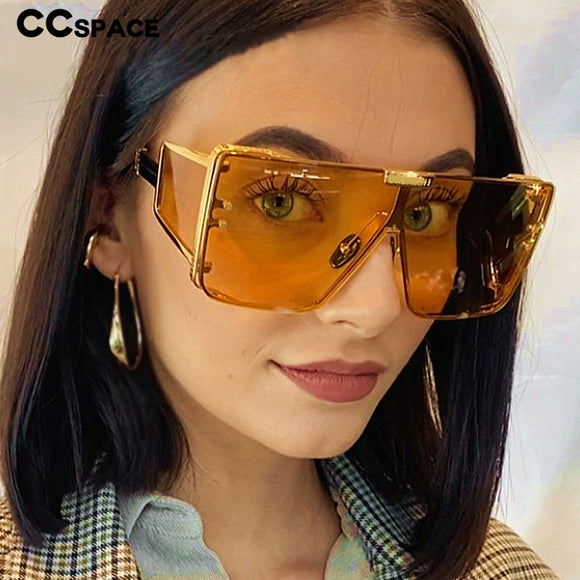 Oversized One Lens Goggle Sunglasses