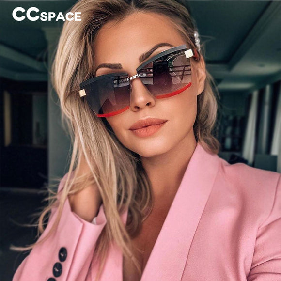 Rimless Luxury Square Sunglasses