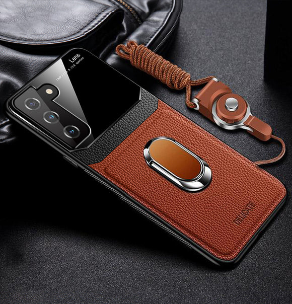 Vipomall Shockproof PU Leather With Stand Case for Samsung Galaxy S21 Series
