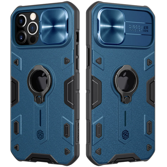 Vipomall Impact Resistant Armor Cover Slide Camera Case for iPhone 12