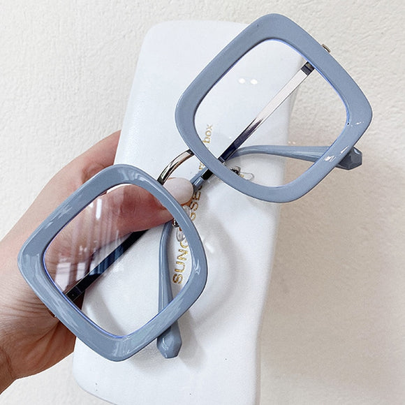 Anti-blue Light Black Gray Clear Eyeglasses