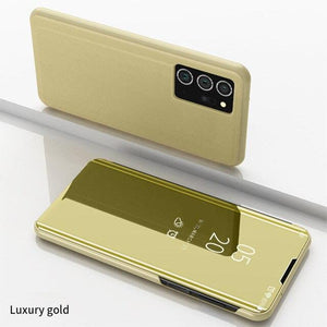 Vipomall Luxury Mirror View Flip Case for Samsung Galaxy Note