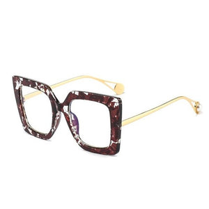 Women Pearl Square Clear Glasses