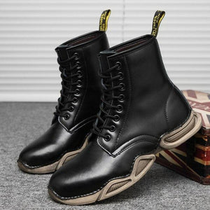 Vipomall Men's Lace Up Ankle Boots
