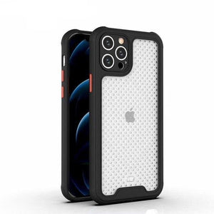 Vipomall New Matte Transparent Breathable Back Cover iPhone 12