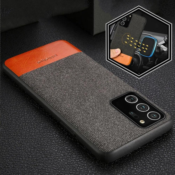 Vipomall Luxury Business Fabric Magnetic Case For Samsung Galaxy Note 20