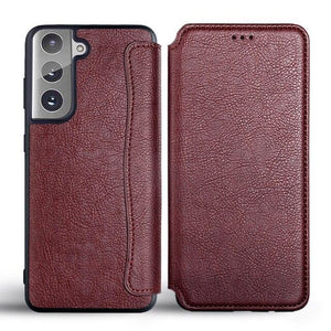 Vipomall Ultra Thin Leather Flip Cover Samsung Galaxy S21 Series