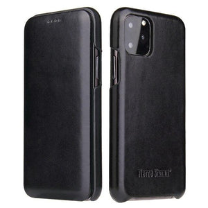 Vipomall Luxury Leather Magnet Cover Case For iPhone 12