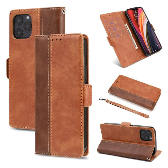 Vipomall Vintage Folio Magnetic Closure 3 Card Slots Case for iPhone 12