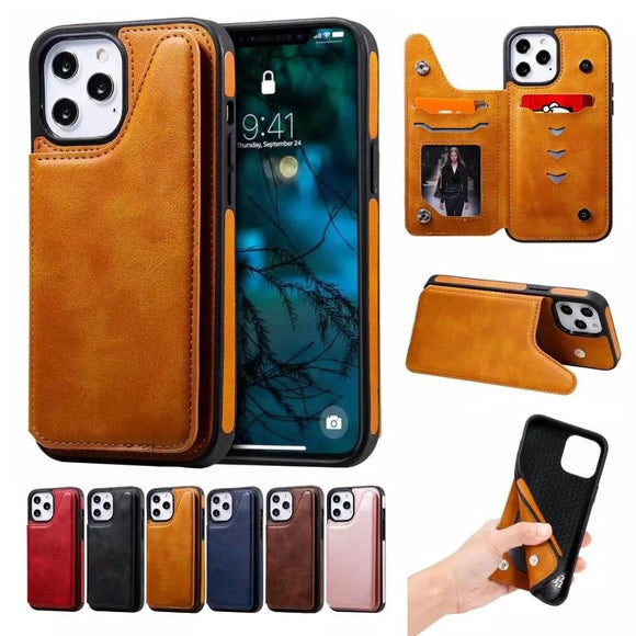 Vipomall Shockproof Case with Card Holder for iPhone 12