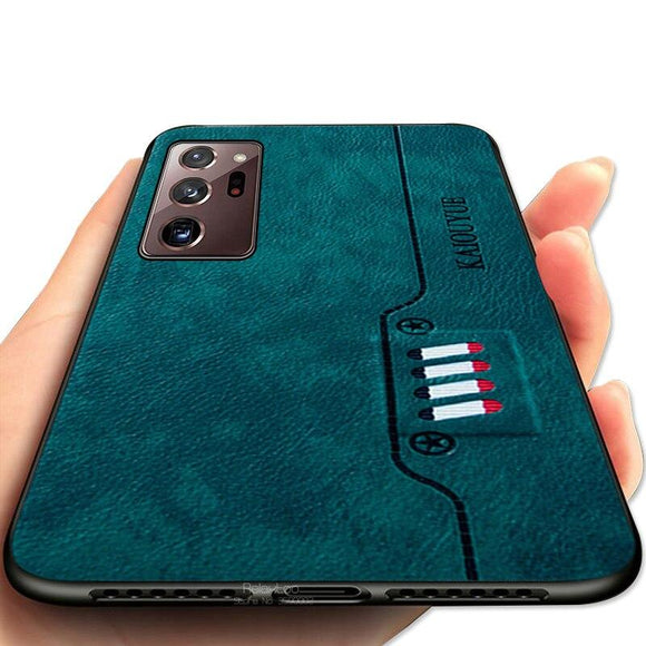 Vipomall Luxury Business Leather Texture Cases For Samsung Galaxy Note 20/Ultra