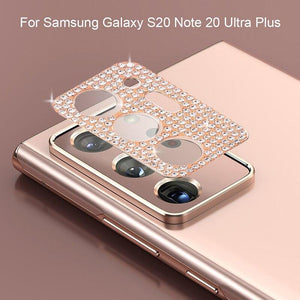 Vipomall Bling Diamond Metal Camera Lens Protection for Samsung Galaxy Note20/S20 Series(Buy 2 Get10% Off)