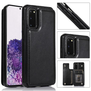Vipomall Retro PU Leather Flip Wallet Holder Cover For Samsung Galaxy S20/10/9 (Buy 2 Get 10% OFF)