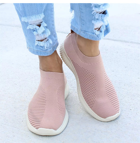 Women Stretch Fabric Socks Casual Shoes