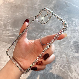 Vipomall Bling Rhinestone Diamond Design Soft Clear Cases for iPhone 12