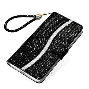 Vipomall Luxury Glitter Leather Mganetic Flip Cover for iPhone