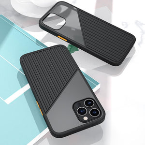 Vipomall Shockproof Silicone Stripe Splicing Back Case for iPhone 12/11