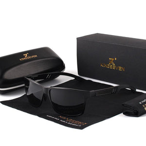Vipomall Men Rectangle Aluminum Driving Sunglasses(Buy 2 Get 10% OFF)