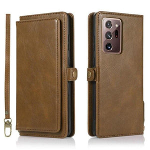 Vipomall Detachable Magnetic PU Leather Wallet Case for Samsung Galaxy Note Series