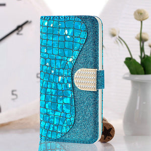 Bling Buckle Strap Wallet Cases for Samsung Galaxy S20/20Plus/20Ultra/S10