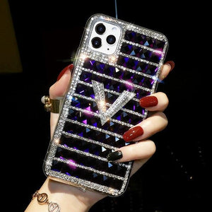 Vipomall Luxury Diamond Crystal Square Case For iPhone 12 Series
