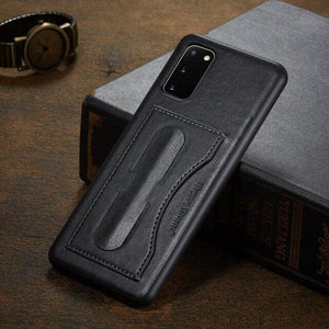 Vipomall Luxury Business PU Leather Kickstand Case For Samsung Galaxy Note