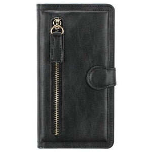 Vipomall Zipper Design Wallet Case For iPhone 12